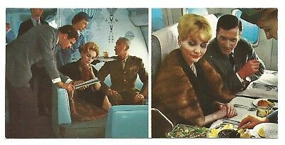 c1960s POSTCARD - PAN AM - INTERIOR OF BOEING INTERCONTINENTAL JET CLIPPER