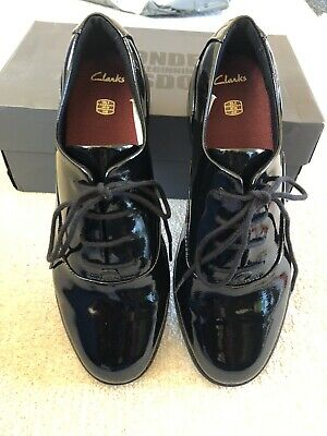 Girls Clarks Drew Star Youth Lace Up Junior College Formal School Shoes Size 5.5
