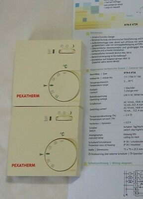 Pexatherm / Eberle RTR-E 6726 Room Thermostat Under Floor Heating   230V