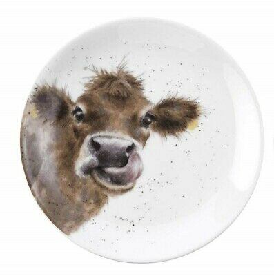 Royal Worcester Wrendale Individual 16.5 Centimeter Tea Side Plate - Cow