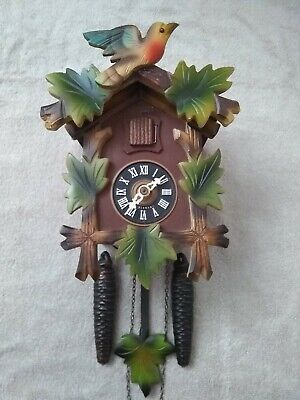 German Black Forest Mechanical Cuckoo Clock in excellent working condition
