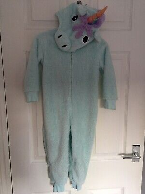 M&S Unicorn Onesy/ all in one sleepsuit Age 3-4