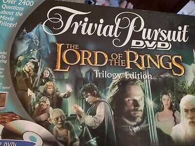Trivia Pursuit DVD Lord Of The Rings Trilogy Edition Board Game Preowned