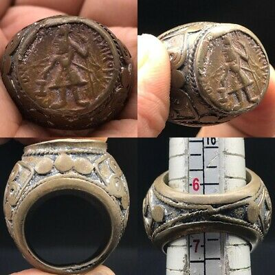 Authentic Bronze Ancient Greek Or Roman Wonderful Ring #A15