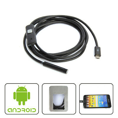 Endoscope Inspection Camera 6-LED IP67 Waterproof 7mm 5M for Android Phones