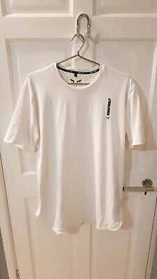 Squat Wolf Mens Warrior Tee Tshirt Top Pearl White Large L