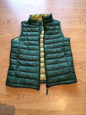 NEW UNIQLO child's light padded gilet age 12 green lime PERFECT