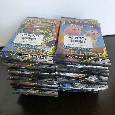 Pokémon Trading Card Game Sun & Moon Cosmic Eclipse 36 Sealed Booster Packs