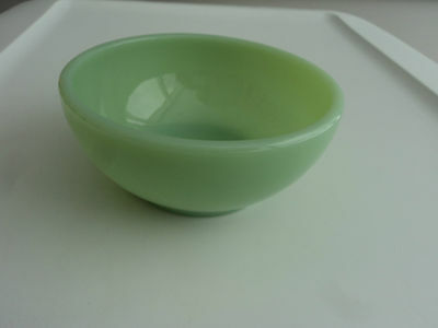 Fire King Jade-Ite Green Four Restaurant Ware Deep Cereal Chili Bowls