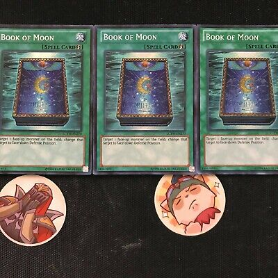 3 copies of   *** BOOK OF MOON ***   SECRET RARE (MINT/NM) LCYW LCJW YUGIOH!