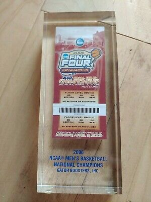 Gator Booster 2006 Final Four NCAA Men's basketball National Champions ticket