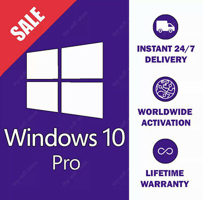 Instant Windows 10 Professional Pro 32 & 64 BIT Activation Code License Key Fast