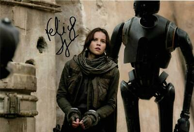 """Felicity Jones - Rogue One Autographed 12x8"""" photo with C.O.A"""
