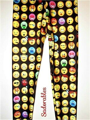 NEW Sadorable's Emoji Leggings for Girls Size 6