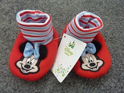 Disney MINNIE MOUSE Booties Size 9 Months Size 2 (EUR 18) NWT
