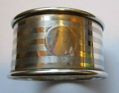 ANTIQUE BIRMINGHAM STERLING SILVER NAPKIN RING collectable hallmarked vintage