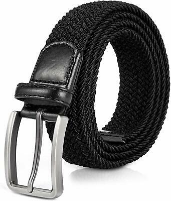Jiguoor Braided Stretch Belt, Golf Elastic Fabric Woven Belts Casual Men/Women