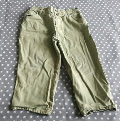 Lovely Boys Next Light Green Jeans Trousers Size Age 2-3 Years