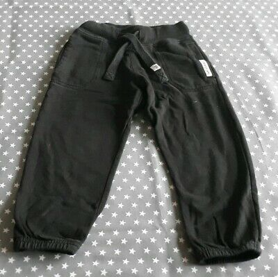 Lovely Boys Next Black Joggers Jogging Bottoms Trousers Size Age 2-3 Years