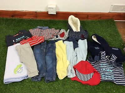 Baby Boys Age 3-6 Months Clothes Bundle George Primark Etc 16 Items B181