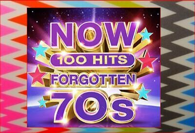 5xCD NewSealed Forgotten 70s FastFreepost 100 Hits Now That's Whats I Call Music