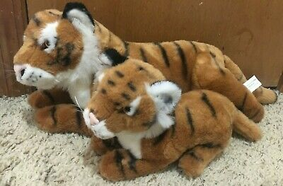"E&J Classic Collection Bengal Tiger & Cub Realistic 20"" Plush Toy Stuffed Animal"