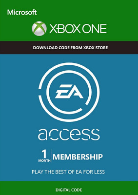 EA Access 1 Month Membership Microsoft Xbox One Download Code + FREE DELIVERY