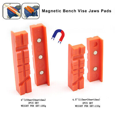 140mm Vise Soft Jaws Vise Jaw Magnetic Reversible Pads Universal 2// 4// 6 pcs