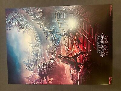 """Star Wars The Rise Of Skywalker Imax Amc Movie Poster 9.5""""X13""""  Week 1 Rare"""