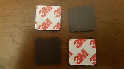 3M Self Adhesive Magnetic tape discs 25mm square rounded corners x 1mm x 10