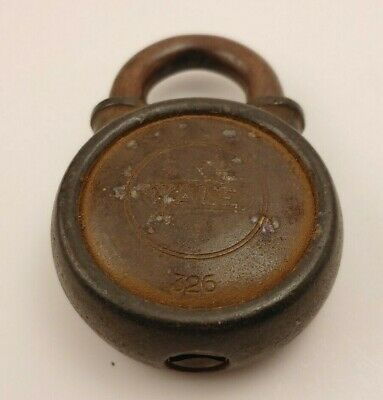 Antique Yale & Towne Padlock Closed with NO Key Vintage Lock - NEAT!