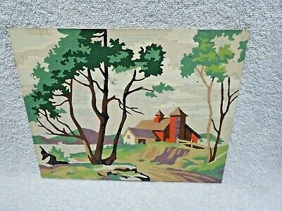 Children's  Paint By Number Rural Scene Set of Two