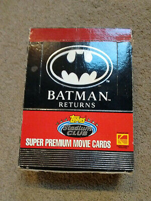 Batman Returns Trading Cards Retail Box with 36 unopened packs