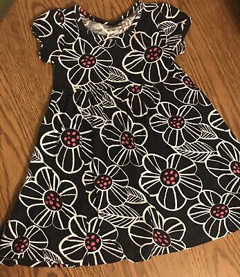 Girls Size 4 T Blue Floral Blue / White Dress Jumping Beans