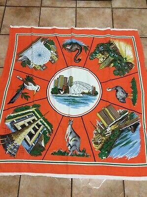 Vintage Collectable Retro Old Australian Tablecloth