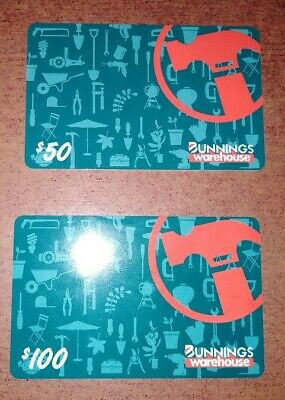 $150 worth of Bunnings Warehouse Gift Cards (1 x $100, 1 x $50) - No Expiry
