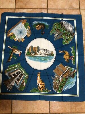 Vintage Collectable Retro Old Australian Suppercloth Tablecloth