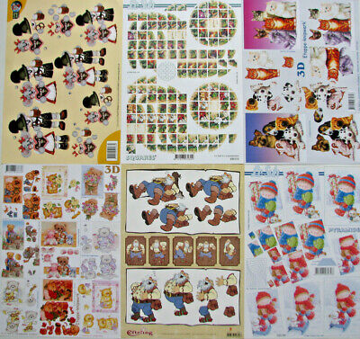 3D Cardmaking/ Decoupage A4 Sheets - General - Set 6