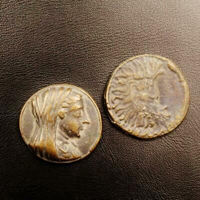 Rare set of TWO Ancient Roman Egyptian Billon Coins Antoninus Pius