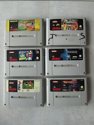 --- Lot de 6 jeux Super Nes  Nintendo ---