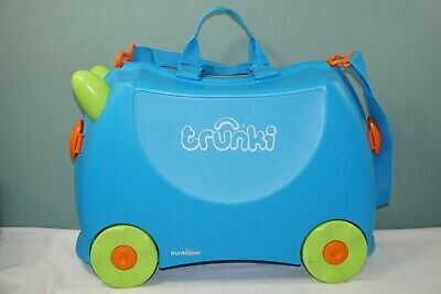 Trunki Kids Ride-On Suitcase and Carry-On Luggage - Terrance (Blue)