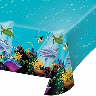 Ocean Waves Plastic Tablecover Sea Party Tableware Table Cover 137 x 274 cm