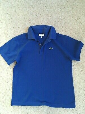 Lacoste Sports Boys Age 14 Yrs Blue Polo Shirt Summer Holiday Junior Vgc