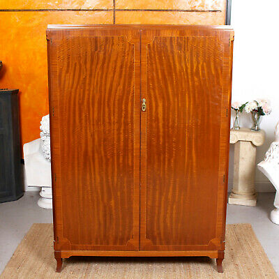 Antique Vintage Wardrobe MAPLE & CO Inlaid Mahogany Armoire