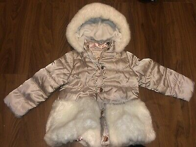 Ted Baker Girls Hooded Coat Age 2/3 Good Condition Free Postage RE-LISTED