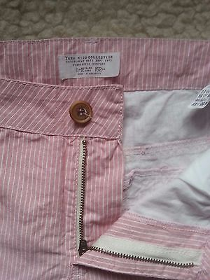 Beautiful Zara Kids Collection Striped Pink Shorts Age 11-12 years 152cm