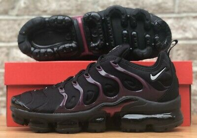 Nike Air Vapormax Plus Running Shoes 924453-021 New Mens Black / Noble Red