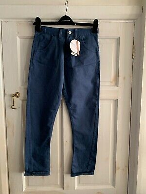 M&S Indigo Collection Adjustable Waist / Bow Leg - Boys Trousers Age 11 Years
