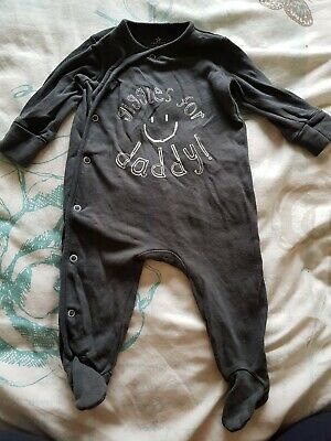 Next Baby Boys Babygrow giggles for daddy Age 3 To 6 Months