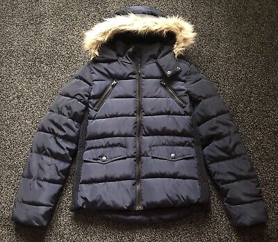 BNWT - Matalan Candy Couture Girls Navy Padded Jacket With Hood - 12 Years